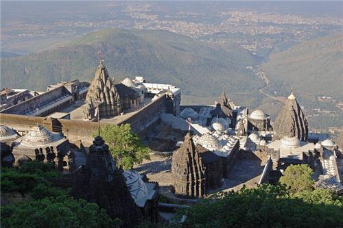 Temple Complex at Girnar in Junagadh