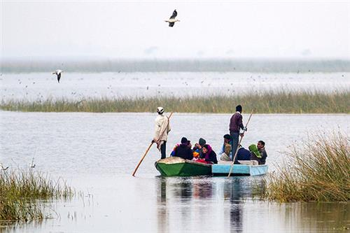 Boating in Nal Sarovar Bird Sanctuary