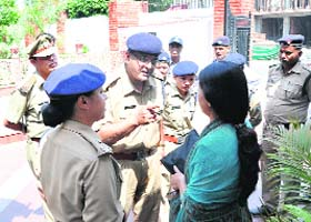 Police in Haldwani