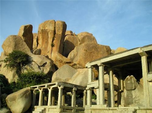 Monolith Bull, Nandi in Hampi