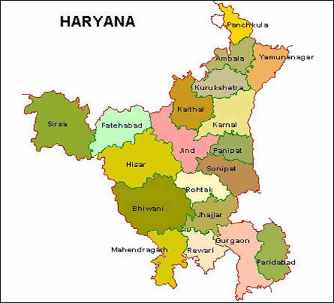 Haryana Districts
