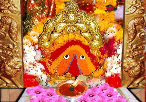 Deity at the Chintpurni Temple