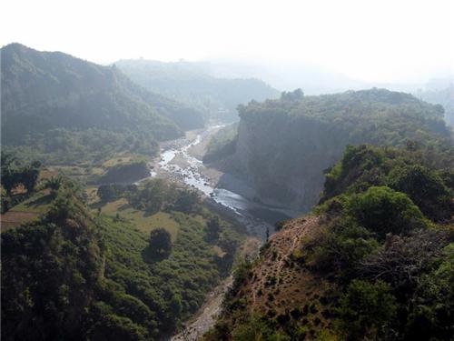 Banganga Flowing thriugh the Hilly terrain in Kangra