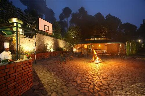Dining Facility at Baikunth Resort in Kasauli
