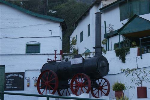 Historical Railway Engine Displayed in Kasauli Brewery