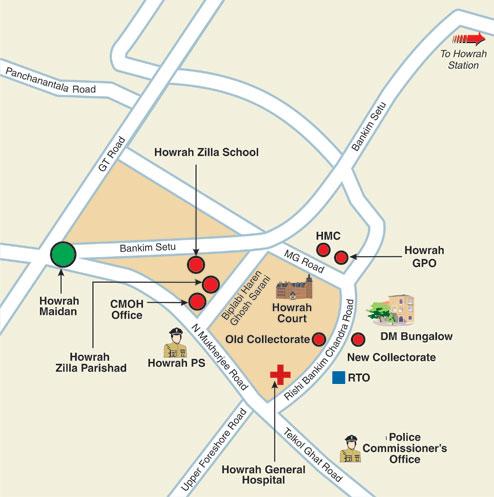 Howrah Maidan and Surrounding Area
