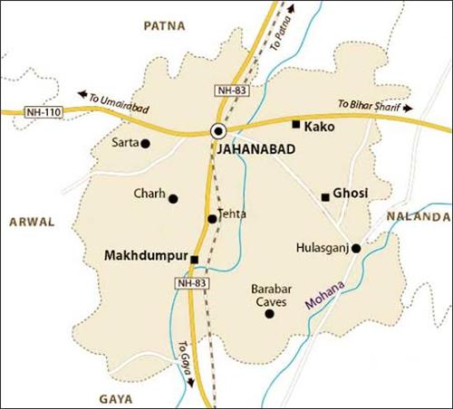 Geography of Jehanabad