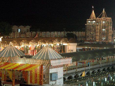 Wonderful Decoration during festival in Devi Talab Temple in Jalandhar