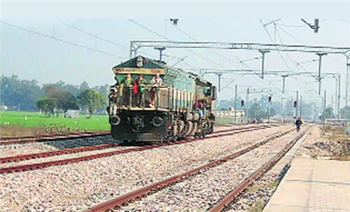 Railway lines passing through Jalandhar