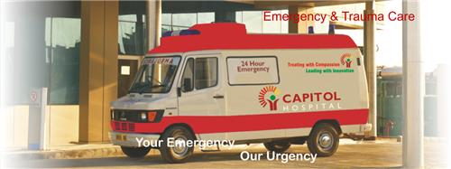 Trauma and emergency services at Capitol Hospital in Jalandhar