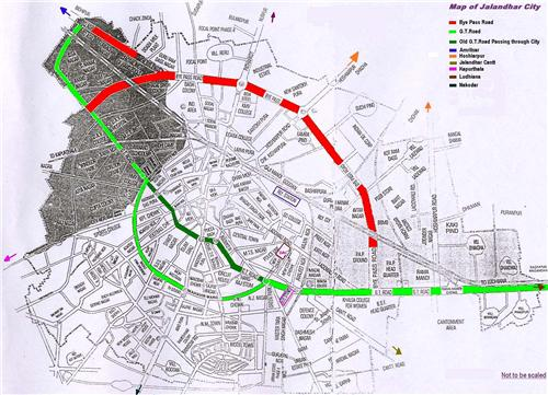 Localities Map of Jalandhar