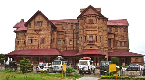 Landscaped Location of Amar Mahal Palace in Jammu