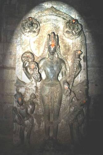 Mata Parvati inside the Basheswar Mahadev Temple Kullu