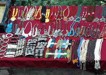 Colorful jewelry peices in Kullu