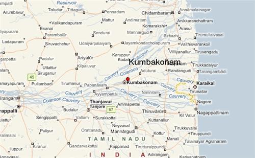 Kumbakona Geography
