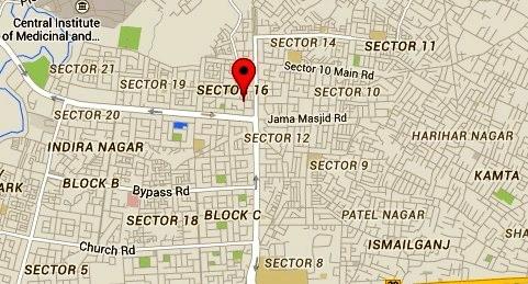 Indira Nagar Map