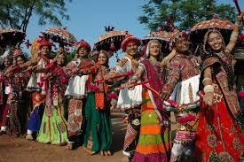 Women and Men celebrating festival in Mehsana