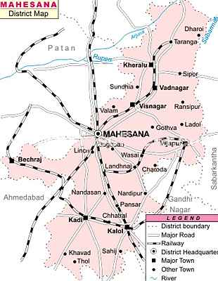 Geography of Mehsana