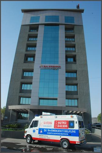 Location of Sai Krishna Hospital in Mehsana