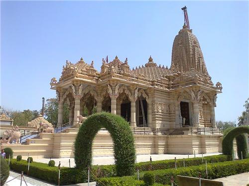 Beautiful surrounding of Simandhar Swami Jain Temple in Mehsana