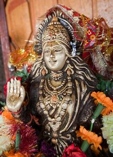 Deity inside the Manu Temple