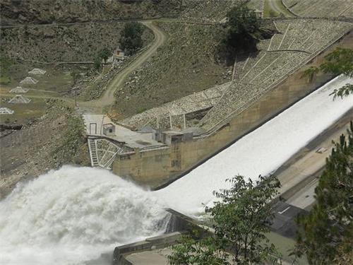 Panoramic View of Pandoh Dam in Manali