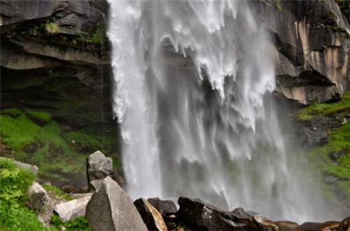 Cascading Water View at Rozy Waterfalls in Manali