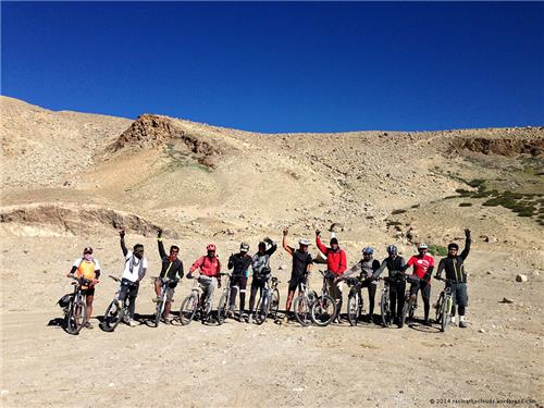 Cycling Route from Manali to Leh