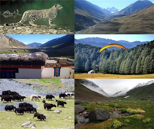 Overview of Pin Valley National Park near Manali