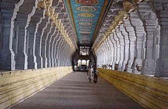 Inside Thousand Pillar Temple in Mangalore