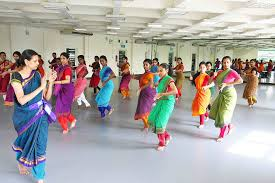 students practicing dance