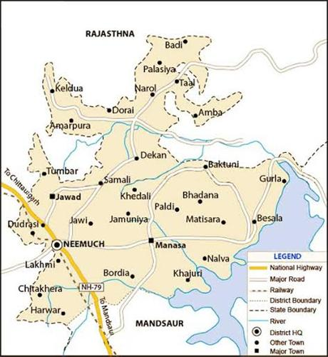 Geography of Neemuch