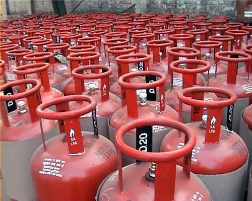 Cylinders Containg LPG in an Agency at Pathankot