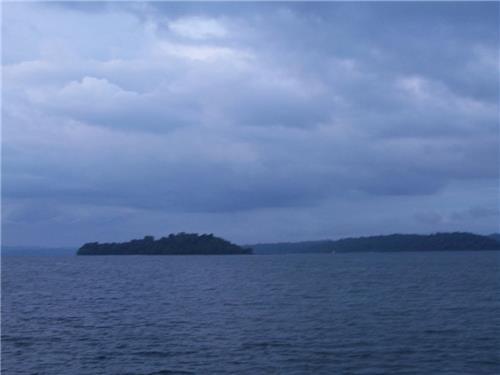 Avis Island from a distance at Mayabunder of Andaman