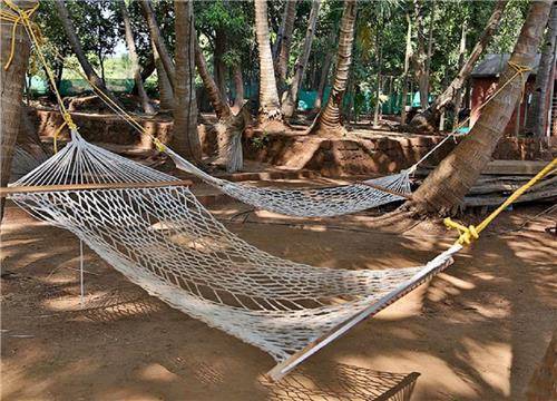 Hammocks on Karmatang Beach of Mayabunder
