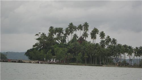The Viper Island from a distance