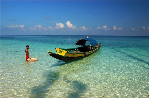 Bharatpur beach in Andaman Islands