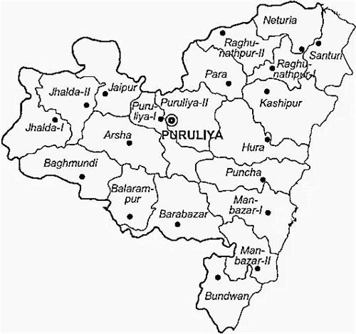 Purulia District Map