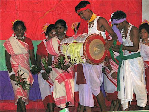 Oraon Singers and Musicians