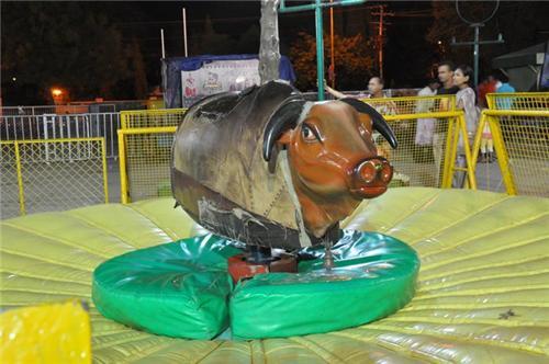 Famous Bull Ride at Fun World Amusement Park in Rajkot