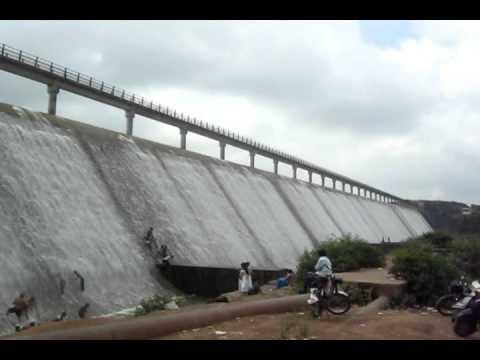 Mega structure Aji Dam on the River Aji in Rajkot