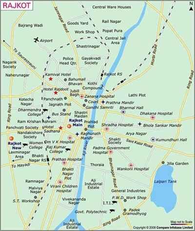 Map of Rajkot