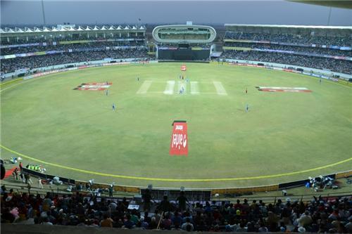 Huge Saurashtra Cricket Association Stadium in Rajkot