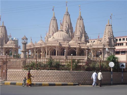 Popular BAPS Swaminarayan Temple in the City Rajkot