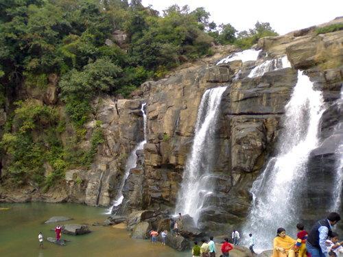 water activity point and picnic spot at Hundru water falls in Ranchi