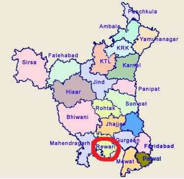 Geography of Rewari