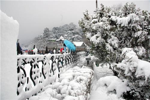 Pleasant View of Kufri at Shimla