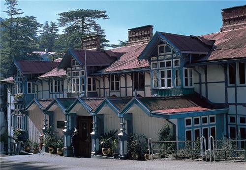 Landscaped Location of Clarkes Hotel in Shimla