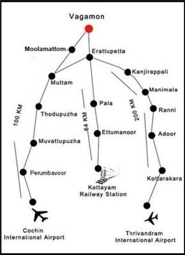 Vagamon Hill Station near Thiruvananthapuram
