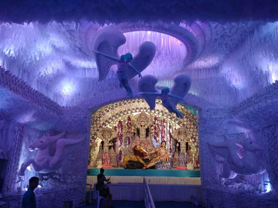 Shree maa Durgeshwari Puja Idol